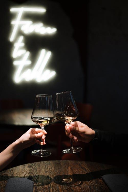 Romantisk middag med vin